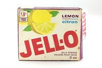 Vintage 1970s Jell-O GF General Foods Jelly Powder Lemon Empty Opened Box L407