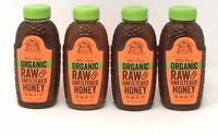 Lot of (4) Nature Nates 100% Pure ORGANIC Raw & Unfiltered Honey 16oz ea (Z1)