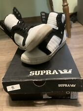Supra Skytop Black And White Us Size 8