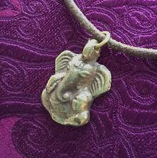 Qué gran buda-Ganesha amuleto de latón Nepal