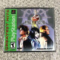 Final Fantasy VIII (PlayStation 1, 1999) FF8 PS1 Greatest Hits RPG