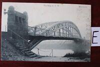 Postkarte Ansichtskarte Niedersachsen Lithografie Nienburg Weser brücke