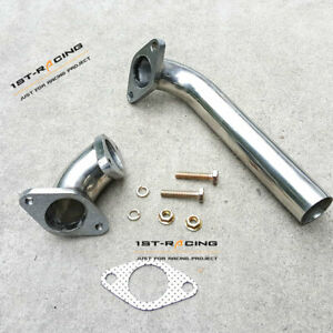 Stainless Steel 38mm Exhaust Dump Pipe+Elbow Adaptor For External Wastegate New
