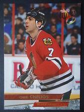 NHL 40 Chris Chelios Chicago Blackhawks Fleer Ultra 1993/94