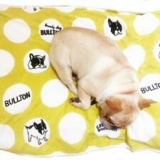 New Frenchie French Bulldog Super Soft Fleece YELLOW Pet Bed Blanket Warm
