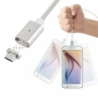 New Braided Magnetic Micro USB Charger Charging Cable For Samsung LG Android UK