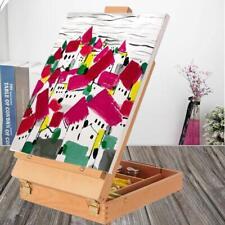 BigTimes Large Artist Wood Tabletop Portable Easel Sketchbox Display Painting