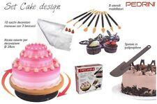 SET DECORAZIONI DOLCI TORTE CAKE DESIGN 20 ACCESSORI UTENSILI  PEDRINI W1437