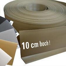 XXL 10 cm hoch Weich PVC Sockelleiste Knick Kunststoff Profil