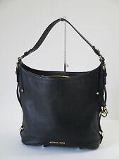 NEW Michael Kors Bedford Black Leather Belted Large Shoulder Bag $298