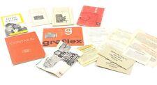 LOT #3 OF INSTRUCTIONS - Nikon, Contax, Kodak, Graflex, Leica