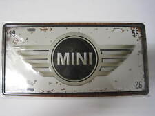Decoración Cartel Placa Matricula Metal 31X16CM 150gr Plate Mini bmw