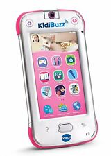 VTech KidiBuzz Handheld Smart Device Smartphone for Kids Send Safe Texts (Pink)