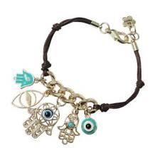 Unique Evil Eye Weave Rope Charm Chain Hamsa Hand Fatima Palm Bracelet For Women