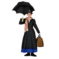 Adult Mary Poppins English Nanny Victorian Theater Costume Jacket Scarf Hat