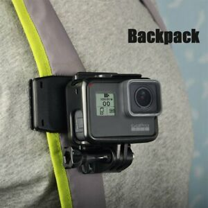 Backpack Camera Clip On Clamp Mount for GoPro Hero/ Insta360 One X Action Camera