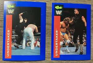 1991 Classic WWF WWE THE UNDERTAKER RC Rookie Card Lot Of 2 Rare GOAT