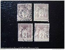 FRANCE timbre stamp yt n°85 x4 obl (U)