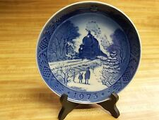 Vintage 1973 Royal Copenhagen Christmas Plate * Going Home For Christmas*
