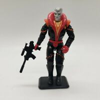 GI Joe Destro 1991 Hasbro Vintage Action Figure with Gun and Stand Accessories