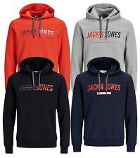 JACK & JONES Core Mens Sporty Overhead Gym Hoodie Print Hooded Sweatshirt Top