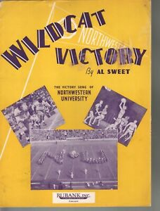 Wildcat Victory 1939 The Victory Song of Northwestern University Sheet Music