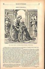 La visitation de Domenico Ghirlandaio peintre musée du Louvre Paris GRAVURE 1877