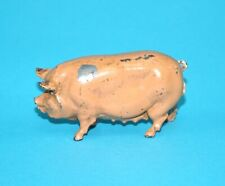 BRITAINS LEAD FARM No. 596 BERKSHIRE PIG SOW 1930s ENGLAND