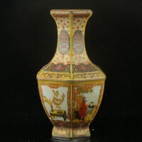 xzChinese Enamel Porcelain Hand Painted Vase Made During The Kangxi Period
