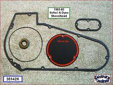 Primary Cover Fibre Gasket & Seal Kit, 65-80 Softail & Dyna, Panhead Shovelhead