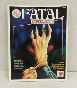 Call of Cthulhu RPG Fatal Experiments SC (Chaosium 1990 1st printing)