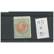 Suriname  15B  Willem III 1873  MH/ongebr CV  90 €