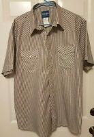 Wrangler Western Pearl Snap Short Sleeve Shirt Mens Size XL