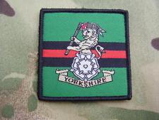 Yorkshire Regiment British Army Cap/Beret Badge On TRF Combat Jacket/Shirt Patch