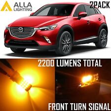 Alla Lighting LED Front Turn Signal Light Blinker Bulbs 1156NA Amber for Mazda