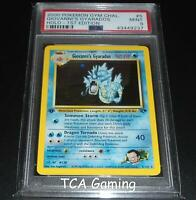 PSA 9 MINT Giovanni's Gyarados 5/132 1ST EDITION Gym HOLO RARE Pokemon Card