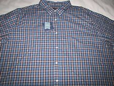 NWT Men's Croft & Barrow Big & Tall L/S Button Front 4XB Cotton Blend - Blue $46