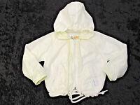 Vtg LONDON FOG Jacket Sz 24 mos Girls White Coat Hooded Lined Slight Stain EUC
