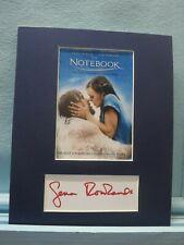"""The Notebook"" starring Ryan Gosling & Rachel McAdams & Gena Rowlands autograph"