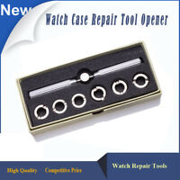 Watch Back Case Opener Remover Watchmaker Repair Tool Kit Wrench Professional UK