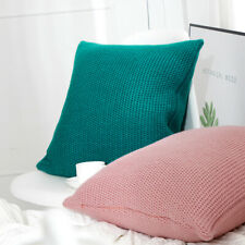 "18"" Knitted Pillowcase Sofa Car Bed Office Throw Waist Cushion Cover Pillow Case"