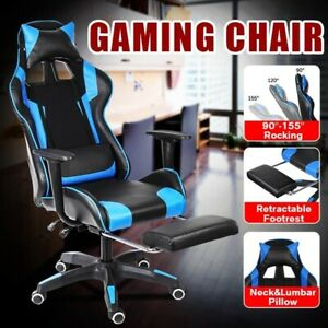 Computer Gaming Chair PU Leather Ergonomic Recliner Adjustable Office Furniture