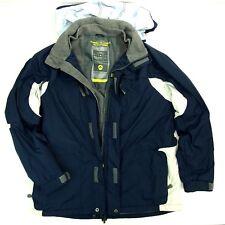 Vntg Men AMERICAN EAGLE X-TREME SNOWBOARD Blue L Fleece-Lined Hooded Jacket MINT