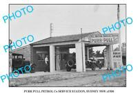 OLD LARGE PHOTO OF PURR PULL OIL Co STATION c1930 NSW 2