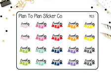 1103~~Laundry Day Planner Stickers.