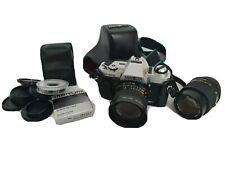 Kamera Minolta x-300 + MD 28mm + MD 135mm + Blitz + Tasche