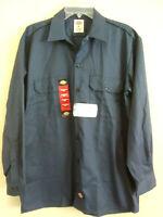NWT Men's Medium Dickies Premium Industrial Long Sleeve Shirt  Dark Navy Blue
