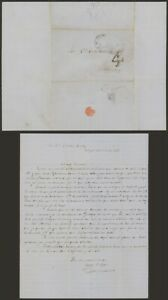 Mexico 1855 - Stampless Letter Mexico to Chihuahua A502