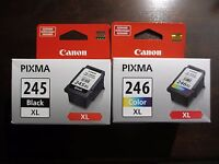 NEW Genuine Canon PG-245 XL Black CL-246 XL Color Ink Cartridges SEALED NEW