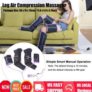 Leg Massager Air Compression Wraps Electric Foot Calf Circulation & Controller